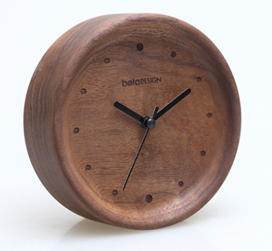 TC1305 belaDESIGN Black Walnut Narrow Edge Alarm Clock