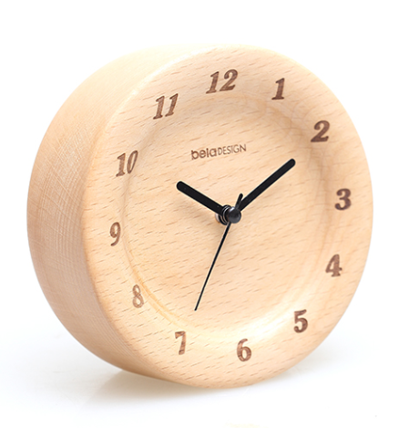 TC1302 belaDESIGN Beech Wide Edge Alarm Clock