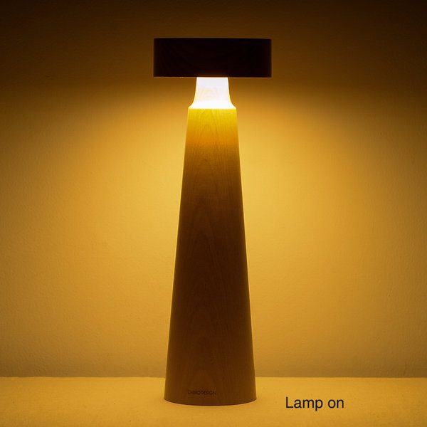 L1518 belaDESIGN Lighthouse Series Tall Table LED Lamp, Beech